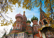 Saint Basil's Cathedral in autumn in Moscow Royalty Free Stock Photos