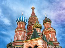 Saint Basil`s Cathedral in Red Square in Moscow, Russia. Saint Basil`s Cathedral, Cathedral of Vasily the Blessed or Cathedral of the Intercession of the Most royalty free stock photos