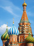 Saint Basil's Cathedral. Saint Basil Church Detail Close Cropped Photograph Stock Images