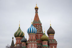 Saint Basil`s Cathedral, is a church in Moscow, Russia Stock Image