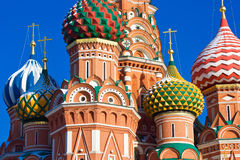 Saint Basil's Cathedral domes Stock Photos