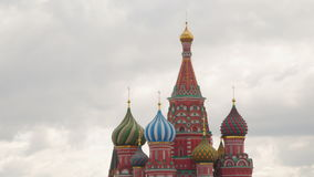 Saint Basil`s Cathedral. Domes Saint Basil`s Cathedral in Moscow stock video