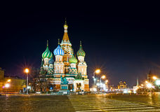 Saint Basil's Cathedral in Moscow Stock Photography
