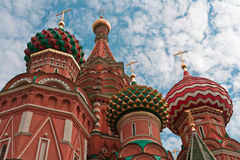 Saint Basil's Cathedral in Moscow. Russia, East Europe stock photos