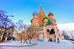 Saint Basil's Cathedral in Moscow Royalty Free Stock Photography