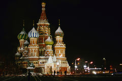 Saint Basil`s Cathedral in Moscow. Saint Basil`s Cathedral, the Red Square in Moscow, Russia stock image