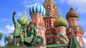Saint Basil's Cathedral, Moscow, Russia stock video