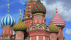 Saint Basil's Cathedral, Moscow, Russia stock video footage