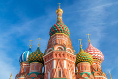 Saint Basil`s Cathedral in Moscow stock image
