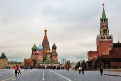 Saint Basil's Cathedral in Moscow, Russia Stock Images