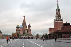Saint Basil's Cathedral in Moscow, Russia Royalty Free Stock Image
