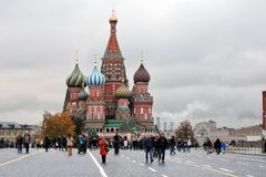 Saint Basil's Cathedral in Moscow, Russia Royalty Free Stock Images