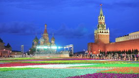 Saint Basil's Cathedral, Moscow, Russia stock footage