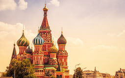 Saint Basil`s Cathedral in Moscow Stock Photography