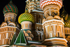Saint Basil's Cathedral at night Stock Image