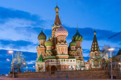 Saint Basil's Cathedral at night Stock Photography