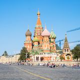 Saint Basil`s Cathedral on Red Square in Moscow royalty free stock photos