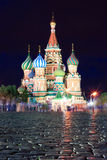 Saint Basil's Cathedral in the Red Square in Moscow Royalty Free Stock Photos