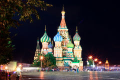 Saint Basil's Cathedral in the Red Square in Moscow Stock Photography