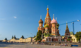 Saint Basil's Cathedral in Red Square - Moscow Royalty Free Stock Image