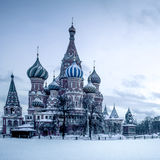 Saint Basil's Cathedral on Red Square in Moscow Royalty Free Stock Photos