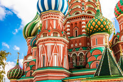 Saint Basil`s cathedral in red square, Moscow Royalty Free Stock Photos