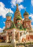 Saint Basil`s cathedral in red square, Moscow Royalty Free Stock Image