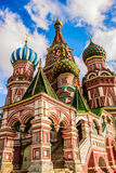 Saint Basil`s cathedral in red square, Moscow Stock Photography