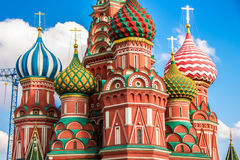 Saint Basil`s cathedral in red square, Moscow Stock Photo