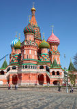 Saint Basil's Cathedral at Red Square in Moscow Stock Photos