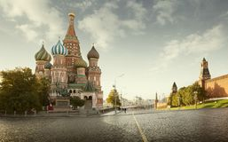 Saint Basil`s Cathedral on Red Square in Moscow, Russia royalty free stock images