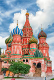 Saint Basil's Cathedral on Red Square in Moscow, Russia Stock Images