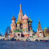 Saint Basil`s Cathedral in the Red Square, Moscow, Russia Stock Photos