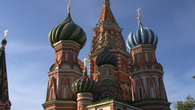Saint Basil's Cathedral zoom in stock video