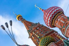 Saint Basil`s orthodox cathedral Stock Photography