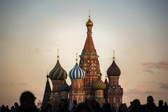 Saint Basil`s Orthodox Cathedral, Moscow, Russia.  Royalty Free Stock Photo