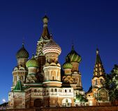 Saint Basilica Cathedral, Moscow stock images