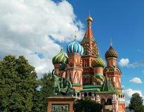 Saint Basilica Cathedral at the Red Square in Moscow Stock Photography