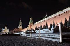 Saint Basils cathedral amd Moscow Kremlin Royalty Free Stock Image