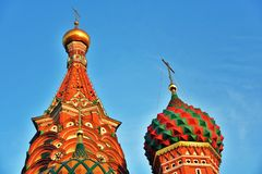 Saint Basils Cathedral in Moscow, cloudy sky background royalty free stock photography