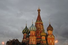 Saint Basils cathedral in Moscow. Stock Images