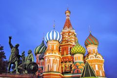 Saint Basils cathedral in Moscow. Stock Photography