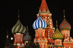 Saint Basils cathedral in Moscow. stock photos