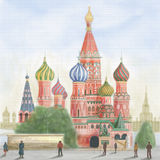 Saint Basils cathedral, Moscow Stock Photos