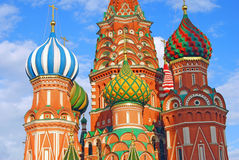 Saint Basils cathedral in Moscow Stock Photos
