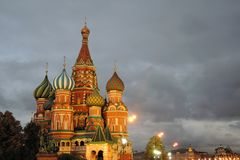 Saint Basils cathedral in Moscow. Royalty Free Stock Image