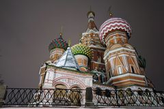 Saint Basils cathedral in Moscow. royalty free stock images