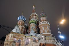 Saint Basils cathedral in Moscow. royalty free stock photography