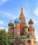 Saint Basils cathedral on Red Square in Moscow Stock Photos
