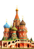 Saint Basils cathedral on Red Square in Moscow isolated over whi Royalty Free Stock Photography